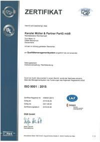 Zertifikat MEW